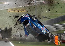 MOTORSPORT: DTM, 10. Lauf Adria, 31.10.2010 <br />Unfall: Alexandre Premat (FRA, TV Movie Audi)<br />� pixathlon