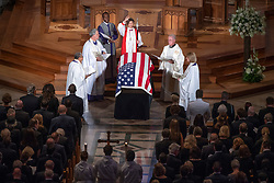 Memorial service for the late United States Senator John S. McCain, III (Republican of Arizona) in the Washington National Cathedral in Washington, DC, USA on Saturday, September 1, 2018. Photo by Ron Sachs/CNP/ABACAPRESS.COM