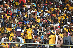 South Africa: Johannesburg: Kaizer Chiefs followers come in large numbers to support their team as it plays against Highlands Park for the Absa premiership at Makhulong stadium in Tembisa, Gauteng.