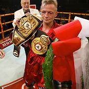 COPENHAGEN 20021108 <br /> IBC and WBA Bantam weight defender Johnny Bredahl, Denmark with his championship belts after defeating challenger Leo Gamez from Venezuela in the Championship of the World contest in Copenhagen Friday November 8, 2002. <br /> Foto: LARS MOELLER/SCANPIX Code 92005 <br /> *** Fri för publicering inom abonnemanget tom 2002-11-10, därefter BETALBILD ***