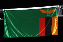 A general view of the flag of Zambia at the Carrara Stadium during day seven of the 2018 Commonwealth Games in the Gold Coast, Australia. PRESS ASSOCIATION Photo. Picture date: Wednesday April 11, 2018. See PA story COMMONWEALTH Athletics. Photo credit should read: Danny Lawson/PA Wire. RESTRICTIONS: Editorial use only. No commercial use. No video emulation.