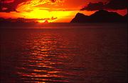 Sunset over The Thai island of Koh Pangan