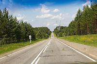Russie, Siberie, route Transsiberienne. // Russia, Siberia, Trans Siberian road.