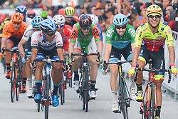 March 23, 2018 - Tanjung Malim, Malaysia - Happy Luca Pacioni (Right) from Wilier Triestina-Selle Italia Team as he wins the sixth stage, the 108.5km from Tapah to Tanjung Malim, of the 2018 Le Tour de Langkawi. .On Friday, March 23, 2018, in Tanjung Malim, Malaysia. (Credit Image: © Artur Widak/NurPhoto via ZUMA Press)
