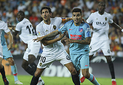 August 20, 2018 - Parejo of Valencia and  Correa of Atletico de Madrid in action during the spanish league, La Liga, football match between ValenciaCF and Atletico de Madrid on August 20, 2018 at Mestalla stadium in Valencia, Spain. (Credit Image: © AFP7 via ZUMA Wire)