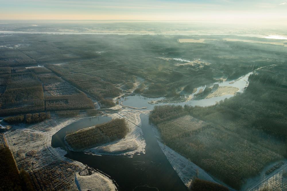 Nederland, Flevoland, Zeewolde, 18-01-2016; Horsterwold, een van de Randmeerbossen. Het bos is deels productiebos, <br /> Landscaped forest in the New Polder Flevoland.<br /> luchtfoto (toeslag op standard tarieven);<br /> aerial photo (additional fee required);<br /> copyright foto/photo Siebe Swart