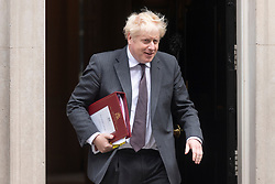© Licensed to London News Pictures. 15/09/2021. London, UK.  British Prime Minister leaving Downing St to attend Prime Ministers Question Time in the House of Common. Photo credit: Ray Tang/LNP
