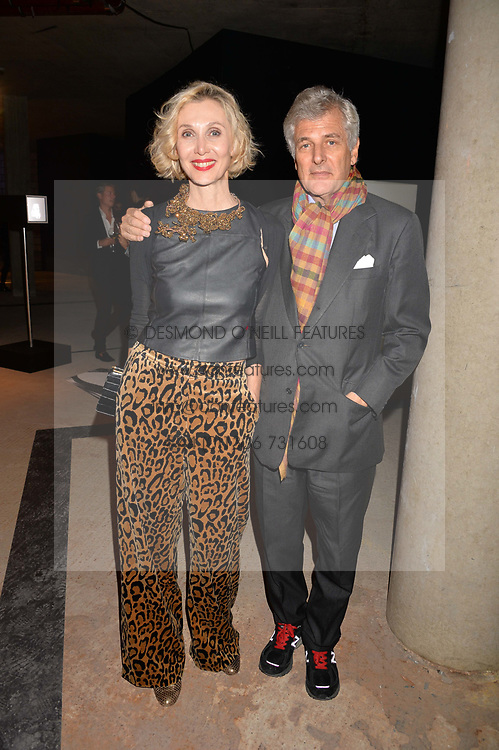 Allegra Hicks and guest at the Veuve Clicquot Widow Series launch party curated by Carine Roitfeld and CR Studio held at Islington Green, London England. 19 October 2017.
