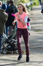 © Licensed to London News Pictures. 23/04/2016. DONNA AIR takes part in the inagural Lady Garden 5km Run.  London, UK. Photo credit: Ray Tang/LNP