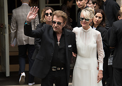 File photo : Johnny Hallyday and Laeticia Hallyday arrives at the Dior Haute Couture Fall/Winter 2016-2017 show as part of Paris Fashion Week on July 4, 2016 in Paris, France France's biggest rock star Johnny Hallyday has died from lung cancer, his wife says. He was 74. The singer - real name Jean-Philippe Smet - sold about 100 million records and starred in a number of films. Photo by Laurent Zabulon/ABACAPRESS.COM