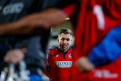 Bristol Rugby replacement Adrian Jarvis looks frustrated in the huddle after Bristol lose the match 30-5 - Mandatory byline: Rogan Thomson/JMP - 13/11/2015 - RUGBY UNION - Kingspan Stadium - Belfast, Northern Ireland - Ulster Ravens v Bristol Rugby - The British & Irish Cup Pool 2.