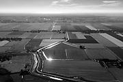 Nederland, Noord-Holland, Gemeente Alkmaar, 13-06-2017; Schermer en Zuid-Schermer, ter hoogte van Driehuizen en gezien naar Heiloo en de Egmonden. Noordzee aan de verre horizon.<br /> Polder Schermer, reclaimed land.<br /> luchtfoto (toeslag op standard tarieven);<br /> aerial photo (additional fee required);<br /> copyright foto/photo Siebe Swart