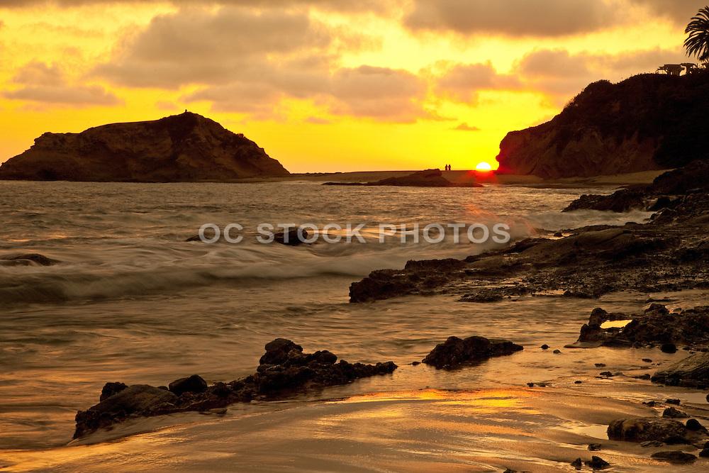The Montage Beach In Laguna Beach California At Sunset