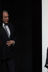 August 16, 2017 - Sao Paulo, Sao Paulo, Brazil - The President of Brazil MICHEL TEMER takes part in the opening of the 18th Annual Conference of Banco Santander, in the Santander Theater in Sao Paulo, Brazil. (Credit Image: © Paulo Lopes via ZUMA Wire)