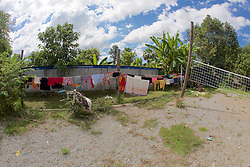 Laundry Drying At Land Mine Museum