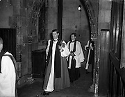 02/02/1954<br /> 02/02/1954<br /> 02 February 1954<br /> Consecration of new Bishop of Killaloe at Christchurch Cathedral, Dublin. <br /> The new Bishop of Killaloe the Venerable Richard Perdue, B.D. during the ceremony at Christchurch.