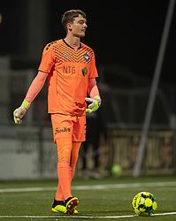 Oskar Snorre (HB Køge) under kampen i 1. Division mellem HB Køge og FC Helsingør den 4. december 2020 på Capelli Sport Stadion i Køge (Foto: Claus Birch).