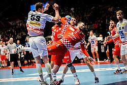 16.01.2020, Wiener Stadthalle, Wien, AUT, EHF Euro 2020, Kroatien vs Österreich, Hauptrunde, Gruppe I, im Bild v. l. Nikola Bilyk (AUT), Domagoj Duvnjak (CRO) // f. l. Nikola Bilyk (AUT) Domagoj Duvnjak (CRO) during the EHF 2020 European Handball Championship, main round group I match between Croatia and Austria at the Wiener Stadthalle in Wien, Austria on 2020/01/16. EXPA Pictures © 2020, PhotoCredit: EXPA/ Florian Schroetter