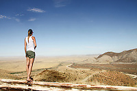 Gazing over the wild expanse that is Namibia's desert heart.