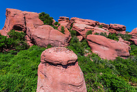 Red sandstone formations, Red Rocks Park, Morrison (near Denver), Colorado USA.