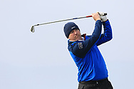 Joe Lyons (Galway) on the 4th tee during Round 3 of The West of Ireland Open Championship in Co. Sligo Golf Club, Rosses Point, Sligo on Saturday 6th April 2019.<br /> Picture:  Thos Caffrey / www.golffile.ie