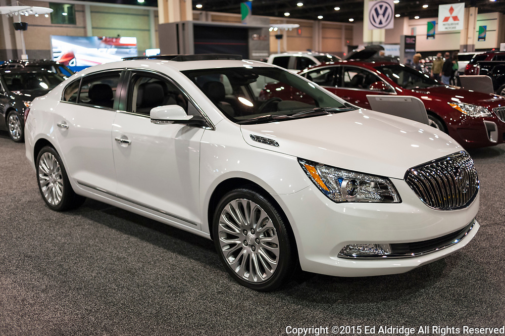 CHARLOTTE, NC, USA - November 11, 2015: Buick Lacrosse on display during the 2015 Charlotte International Auto Show at the Charlotte Convention Center in downtown Charlotte.