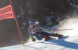 25.11.2017, Killington, USA, FIS Weltcup Ski Alpin, Killington, Riesenslalom, Damen, 1. Durchgang, im Bild Mikaela Shiffrin (USA) // Mikaela Shiffrin of the USA in action during her 1st run of ladie's Giant Slalom of FIS Ski Alpine World Cup in Killington, United Staates on 2017/11/25. EXPA Pictures © 2017, PhotoCredit: EXPA/ Johann Groder