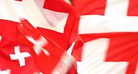 GEPA-1106086013 - BASEL,SCHWEIZ,11.JUN.08 - FUSSBALL - UEFA Europameisterschaft, EURO 2008, Schweiz vs Tuerkei, SUI vs TUR, Vorberichte. Bild zeigt Fahnen. Keyword: Fahne, Flagge.<br />Foto: GEPA pictures/ Philipp Schalber