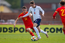 NEWPORT, WALES - Friday, September 3, 2021: England's Luke Chambers (R) and Wales' Luke Harris during an International Friendly Challenge match between Wales Under-18's and England Under-18's at Spytty Park. (Pic by David Rawcliffe/Propaganda)
