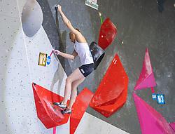 26.06.2021, Kletterzentrum, Innsbruck, AUT, IFSC, Austria Climbing Open 2021, Damen, Boulder, Finale, im Bild Janja Garnbret (SLO) // Janja Garnbret of Slovenia during the final of women Boulder competition of the Austria Climbing Open 2021 at the Kletterzentrum in Innsbruck, Austria on 2021/06/26. EXPA Pictures © 2021, PhotoCredit: EXPA/ Johann Groder