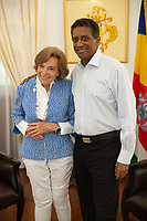 Dr. Sylvia Earle and President Danny Faure