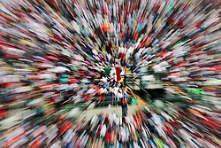 Fans in the grandstand.<br /> 29.10.2016. Formula 1 World Championship, Rd 19, Mexican Grand Prix, Mexico City, Mexico, Qualifying Day.<br /> Copyright: Moy / XPB Images / action press