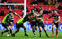 Siale Piutau of Bristol Rugby goes into contact  - Mandatory by-line: Alex Davidson/JMP - 08/12/2017 - RUGBY - Ashton Gate Stadium - Bristol, England - Bristol Rugby v Leinster 'A' - B&I Cup