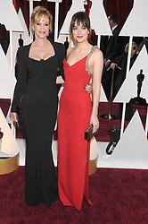 Melanie Griffith and Dakota Johnson at the 87th Annual Academy Awards (Oscars).<br />(Hollywood, CA)