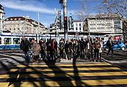 Switzerland, Zurich: zebra crossing in the center