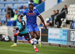Callum Harriott of Colchester United controls the ball - Mandatory by-line: Arron Gent/JMP - 03/10/2020 - FOOTBALL - JobServe Community Stadium - Colchester, England - Colchester United v Oldham Athletic - Sky Bet League Two