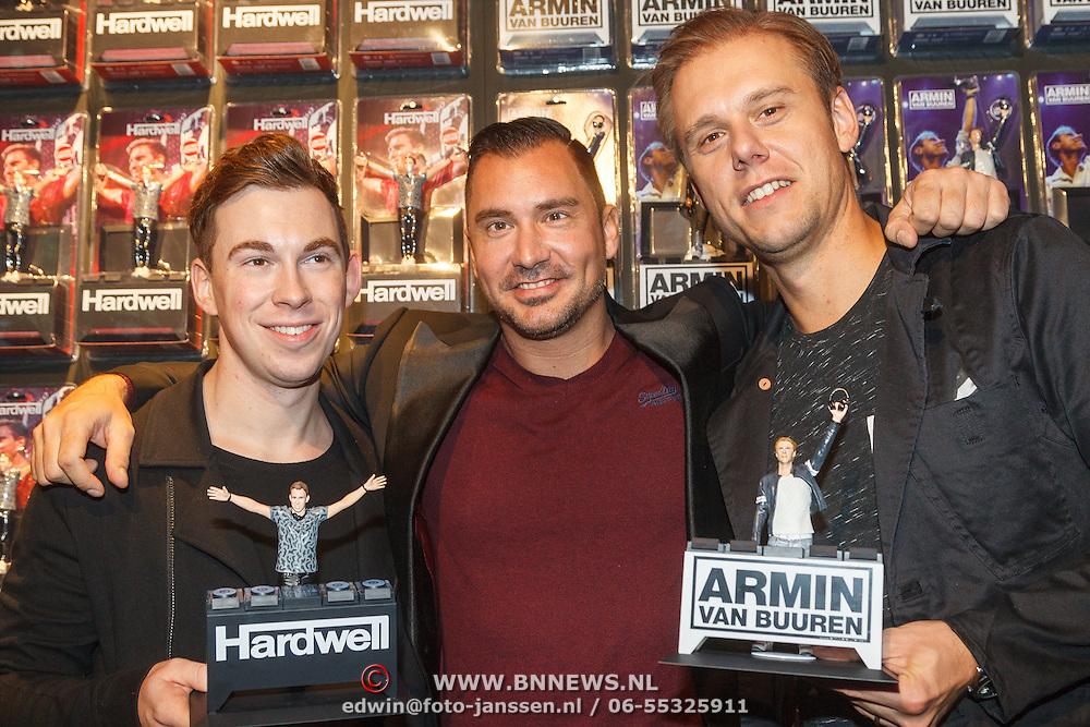 NLD/Amsterdam/20151119 - Actionfiguren voor Armin & Hardwell, Robert van der Corput, Guido Weijers en Armin van Buuren