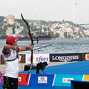 Yagız YILMAZ (TUR) competes in Archery World Cup Final in Istanbul, Turkey, Sunday, September 25, 2011. Photo by TURKPIX