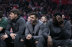 January 16, 2019 - Los Angeles, California, United States of America - Ricky Rubio #3 of the Utah Jazz cheers from the bench during their NBA game with the Los Angeles Clippers on Wednesday January 16, 2019 at the Staples Center in Los Angeles, California. Clippers lose to Jazz, 129-109. JAVIER ROJAS/PI (Credit Image: © Prensa Internacional via ZUMA Wire)