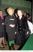 Vivienne Westwood and Lady Thatcher. Lady McAlpine & Vivienne Westwood exhibition. Museum of London. 6 April 2000<br />