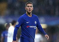 12th September 2017, Stamford Bridge, London, England; UEFA Champions League Group stage, Chelsea versus Qarabag FK; Eden Hazard of Chelsea looks on <br /> Norway only