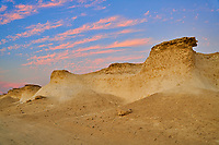 desert landscape at sunset of Ras Brouq resreve  near Zekreet Qatar