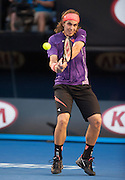 Lucas Lacko (SVK) went up against second seeded N. Djokovic (SRB) in day one play of the 2014 Australian Open In Melbourne. Djokovic defeated Lacko 6-3,7-6,6-1.