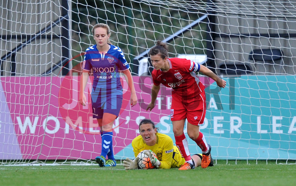 Hannah Reid goalkeeper for Bristol City Women called into action on the final minutes of the home game against Durham Ladies - Mandatory by-line: Paul Knight/JMP - 24/09/2016 - FOOTBALL - Stoke Gifford Stadium - Bristol, England - Bristol City Women v Durham Ladies - FA Women's Super League 2