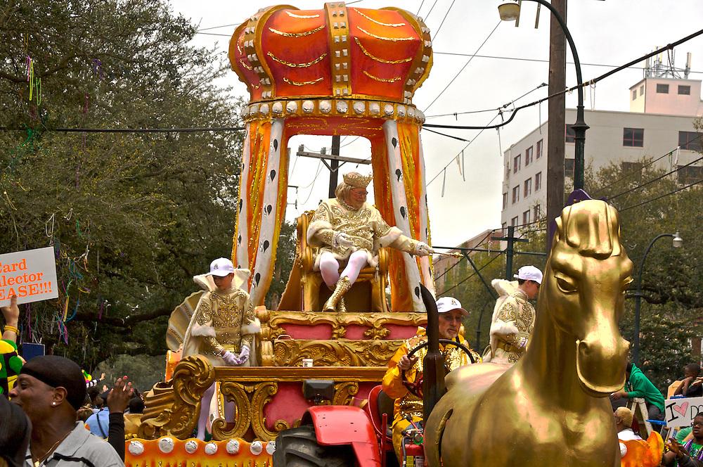 Rex, King of Carnival, Mardi Gras, New Orleans, Louisiana, USA