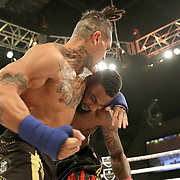 FORT LAUDERDALE, FL - FEBRUARY 15: Ulysses Diaz (L) fights Brian Maxwell during the Bare Knuckle Fighting Championships at Greater Fort Lauderdale Convention Center on February 15, 2020 in Fort Lauderdale, Florida. (Photo by Alex Menendez/Getty Images) *** Local Caption *** Ulysses Diaz; Brian Maxwell