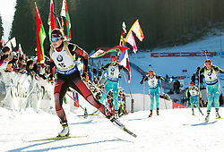 Lisa Theresa Hauser (AUT)  during Women 12.5 km Mass Start at day 4 of IBU Biathlon World Cup 2015/16 Pokljuka, on December 20, 2015 in Rudno polje, Pokljuka, Slovenia. Photo by Vid Ponikvar / Sportida