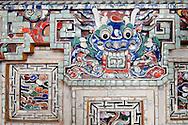 Mosaic in Khai Dinh Tomb, Hue, Vietnam, Southeast Asia