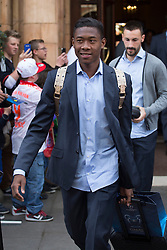 © licensed to London News Pictures. London, UK 26/05/2013. David Alaba and FC Bayern Munich players leaving The Landmark Hotel in central London on Sunday, 26 May 2013 after their UEFA Champions League victory in Wembley Stadium against Borussia Dortmund. Photo credit: Tolga Akmen/LNP