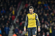 a dejected Arsenal Defender, Laurent Koscielny (6) during the Premier League match between Bournemouth and Arsenal at the Vitality Stadium, Bournemouth, England on 3 January 2017. Photo by Adam Rivers.